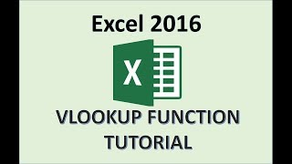 Excel 2016 - VLOOKUP Excel 2016 البرنامج التعليمي - كيفية استخدام معادلة VLookup دالة في Office 365