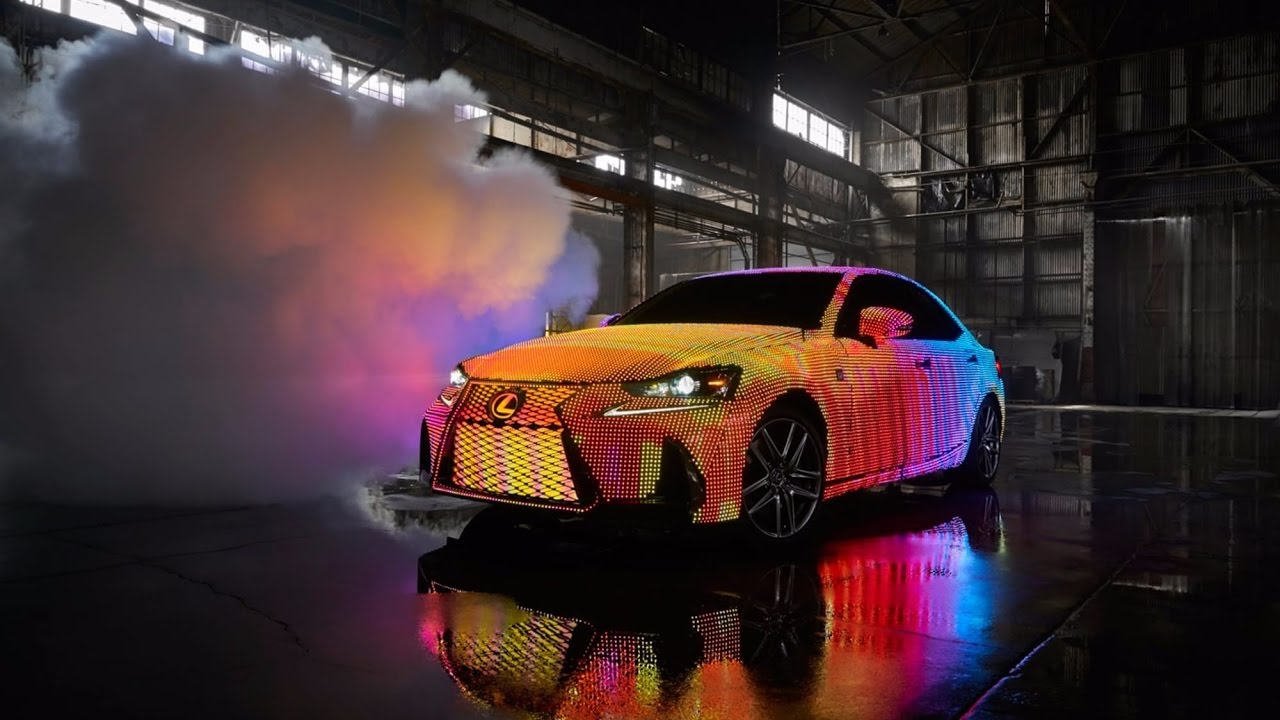 Lexus LITA Custom Vehicle Wrapped In Programmable LEDs - Lexus custom vinyl decals for car