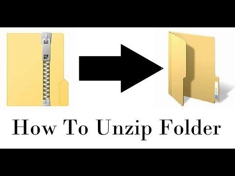 How To Unzip A Folder (Windows 10)