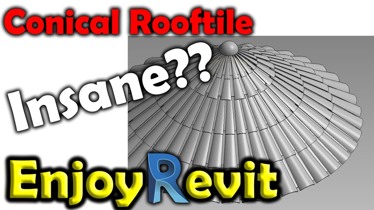 Revit Tips Adaptive Conical Roof With Tiles Spanish