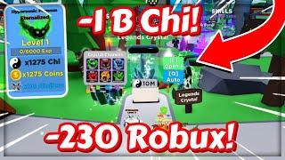 1B Chi ve 90 Robux HARCADIM! / Ninja Legends