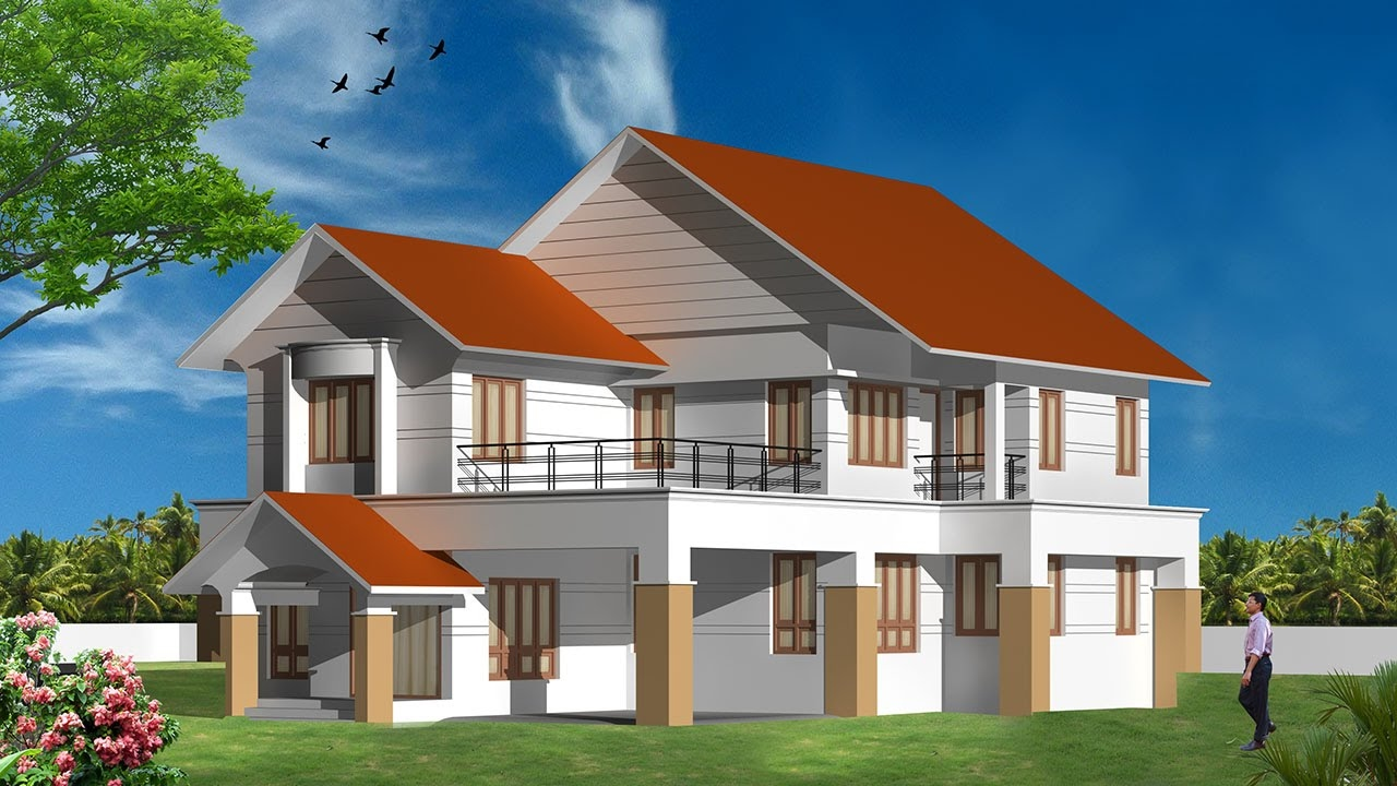 Autocad drawing autocad house plans how to draw autocad 3d drawing 3d drawing youtube 3d house drawing