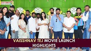 Panja Vaisshnav Tej Debut Movie Launch Highlights   Chiranjeevi   Allu Arjun   Sai Dharam Tej