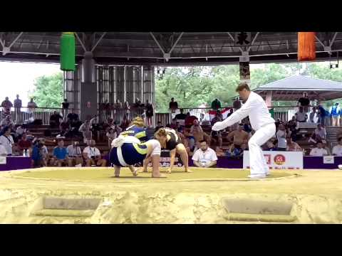 UKR Berezovska vs BUL Women's World Sumo 2015