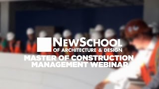 Webinar | Master of Construction Management