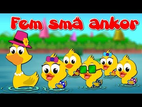 Fem Små Ankor | Barnsånger på svenska