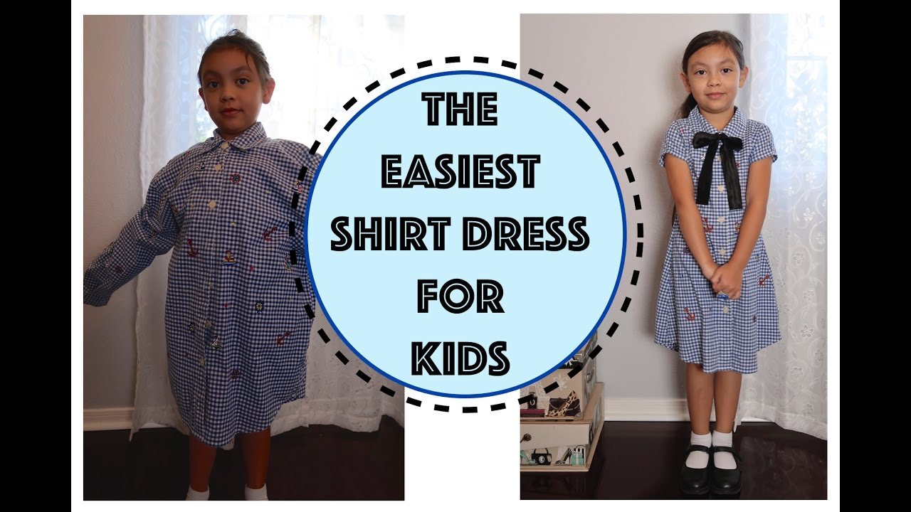 405786d1fa01 CONVERT MEN SHIRT INTO A DRESS FOR KIDS