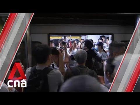 Protesters disrupt Hong Kong MTR train service