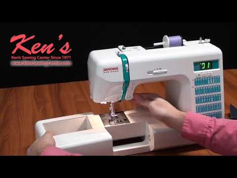 Janome DC40 Sewing Machine Demonstration By Ken's Sewing Center Stunning Sewing Machine Center