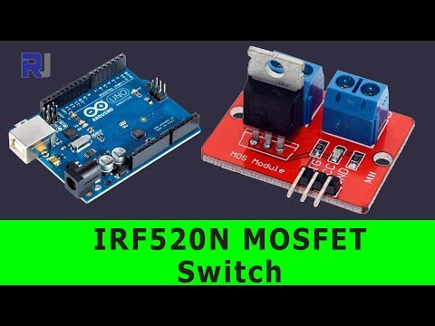 Using IRF520 MOSFET Switch Button To Turn ON Or OFF DC Load