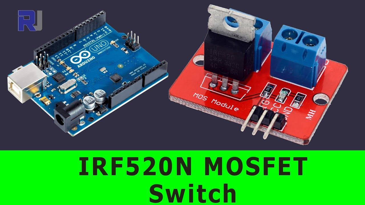 irf mosfet switch button  turn    dc