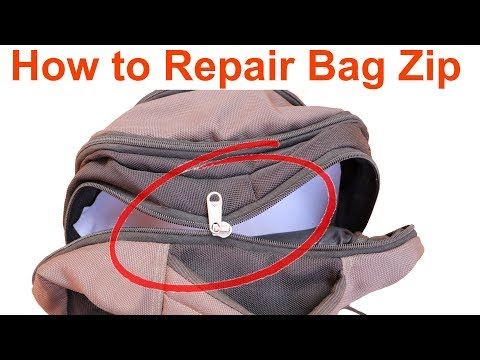 How to Repair a Bag Zip | Help in Tamil