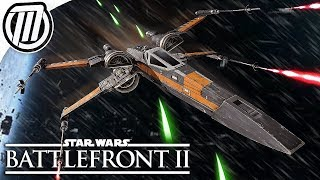 Star Wars Battlefront 2: Poe Dameron's Black X-Wing Gameplay
