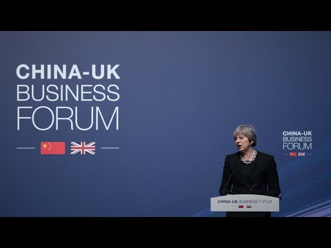 Theresa May attends China-UK Business Forum in Shanghai