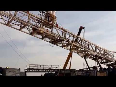 Rig Mast Down Process During Rig Move