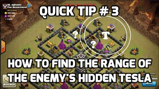 How To FInd The Range of Your Enemy's Hidden Tesla | Mister Clash | Clash of Clans