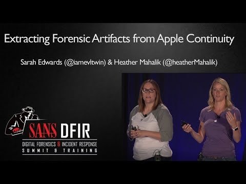 The Cider Press: Extracting Forensic Artifacts from Apple Continuity - SANS DFIR Summit 2017