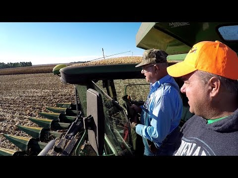 Ride along with Tim's dad. Corn Harvest.  John Deere 9770 STS Combine, 8335R Tractor