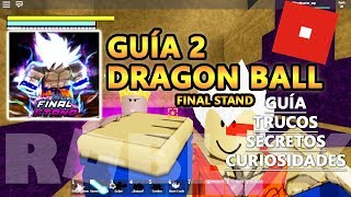 Dragon Ball Final Stand, All Secrets and Tricks of the Earth, Roblox Spanish Guide Tutorial 2