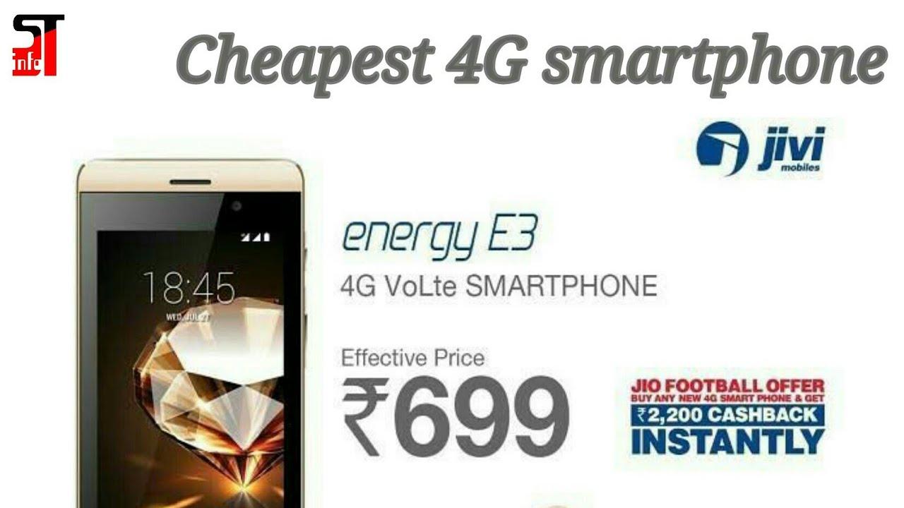 30a7e0007e3 Jivi mobile Energy E3 4G VoLTE 4