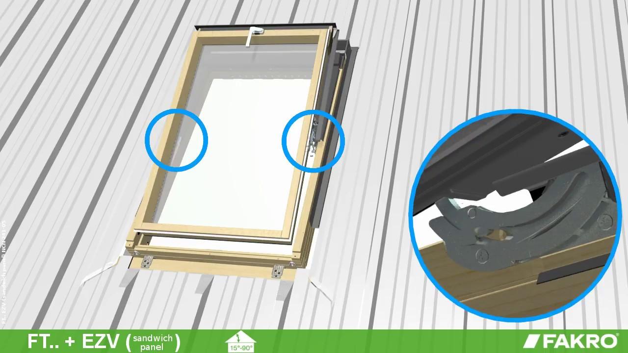 FAKRO roof windows - FT_ roof windows + EZV flashing (sandwich panel)