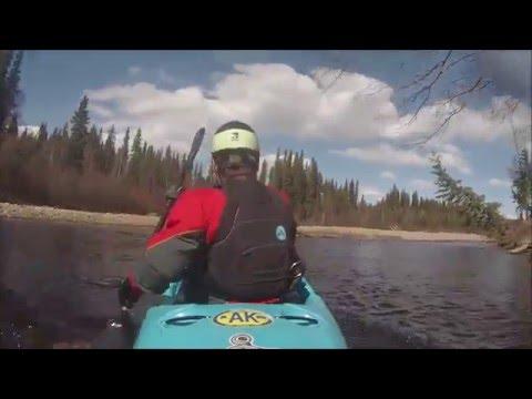 Solo Kayaking upper chena river in Alaska ,April 30th 2016