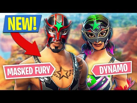 Fortnite *NEW* Masked Fury & Dynamo Skins!! (Fortnite Battle Royale)