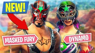 Fortnite *NEW* Masked Fury & Dynamo Skins!! (Fortnite Battle Royale)