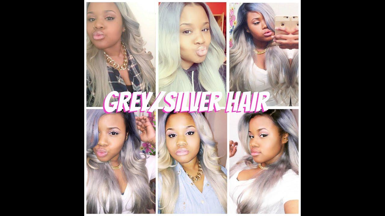 fifty shades of grey how i got grey silver hair youtube