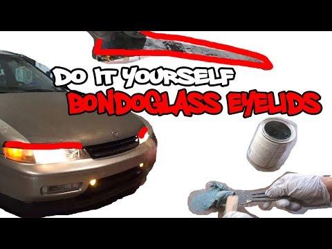 DIY Bondoglass headlight eyelid for 94 95 96 97 honda accord cd5