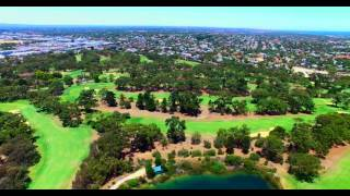 royal fremantle golf course 360 degree view from 118 metres up 4k