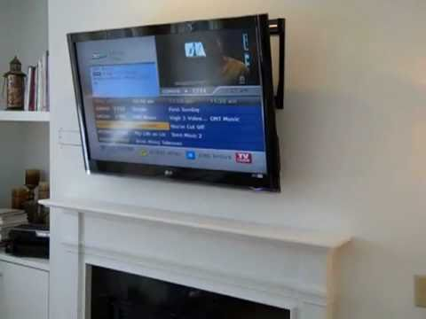 Above Fireplace LCD Wall Mount TV Installation