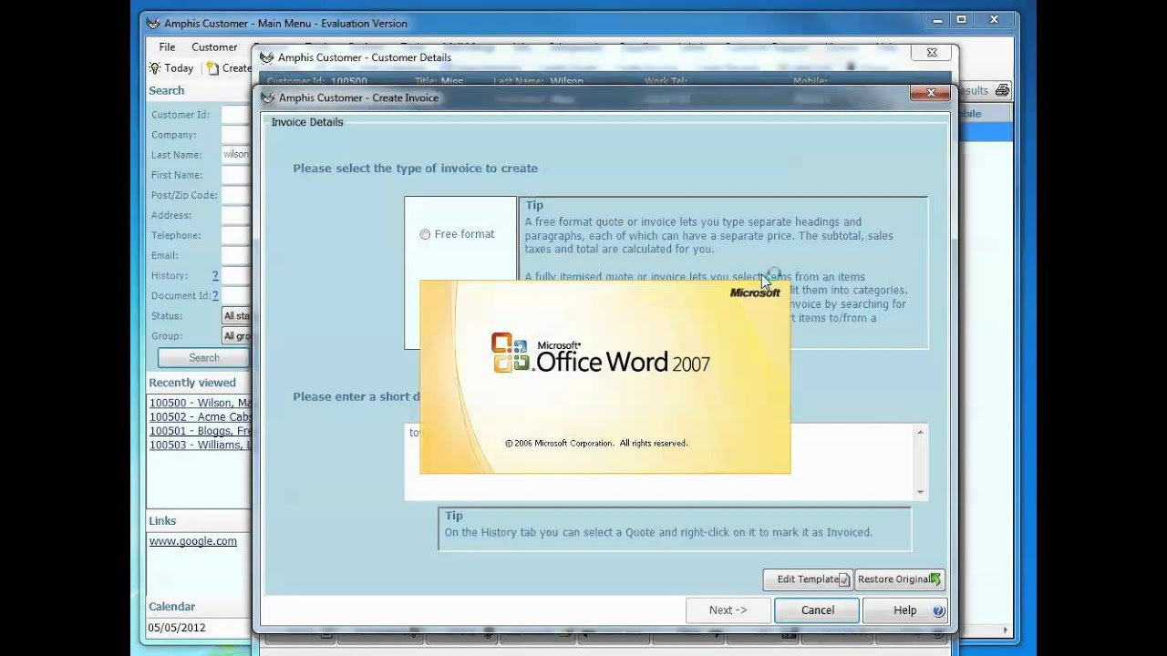 Printing Invoice Excel Create Itemized Invoice And Send As Pdf With Invoicing Software  Return To Invoice with Excel Invoice Template 2007 Word Create Itemized Invoice And Send As Pdf With Invoicing Software Nordstrom Return Policy With Receipt Pdf