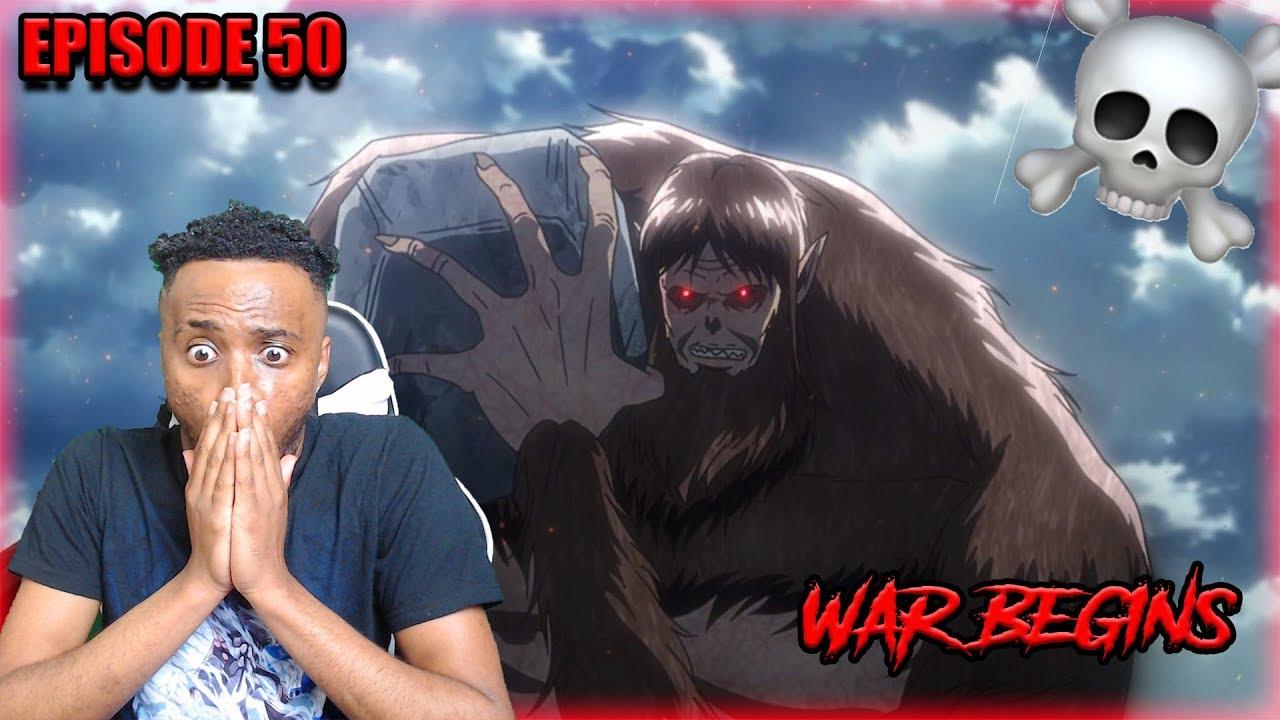 WAR BEGINS!! ATTACK ON TITANS SEASON 3 EPISODE 13 REACTION ...