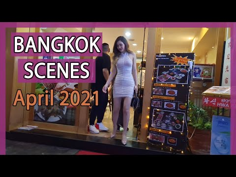 Bangkok Streets Night Scenes - Vlog 66 | April 2021