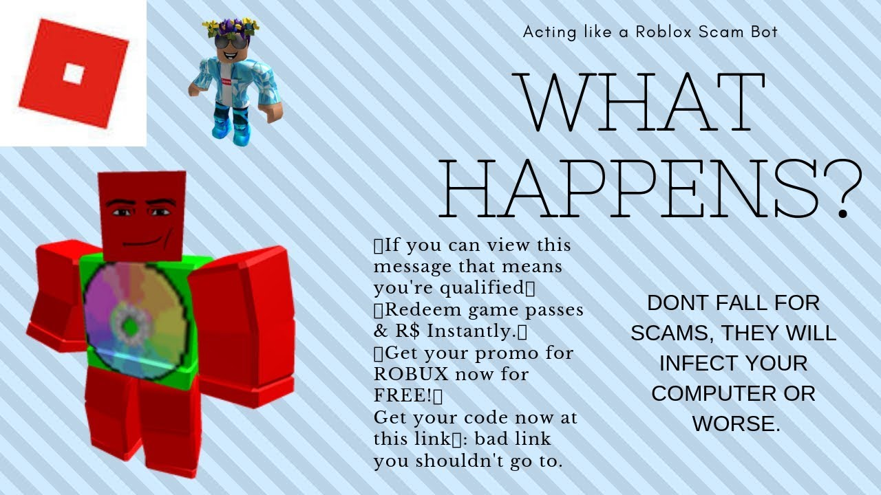 What Happens When I Act Like A Roblox Scam Bot - robux scams messages