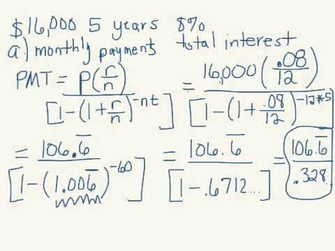 monthly payment interest amortization table youtube