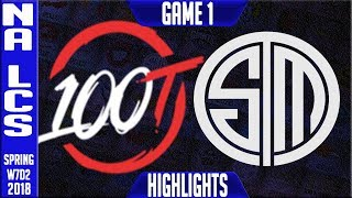 Video 100 vs TSM Highlights | NA LCS Week 7 Spring 2018 W7D2 | 100 Thieves vs Team Solomid Highlights download MP3, 3GP, MP4, WEBM, AVI, FLV Juni 2018
