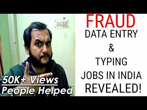 Fraud Data Entry & Typing jobs in India revealed| Fraud Work from home Data Entry & Typing Jobs