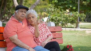 Happy senior couple spending quality time together on valentine's day in India