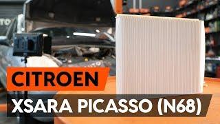 Ako vymeniť peľový filter / kabínový filter na CITROEN XSARA PICASSO (N68) [NÁVOD AUTODOC]