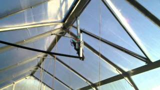 greenhouse window opening system