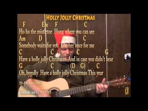 A Holly Jolly Christmas (Christmas) Strum Guitar Cover Lesson with Lyrics Sing and Play