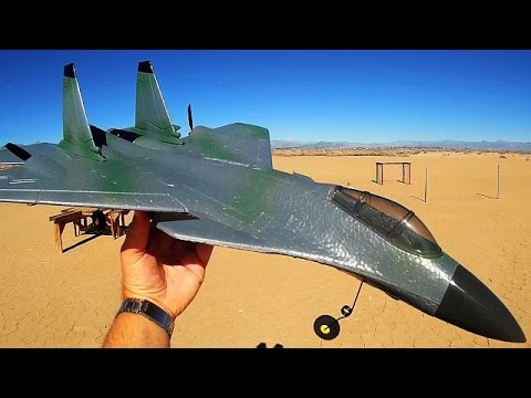 Flybear FX861 J15 Flying Shark RC Combat Jet Flight Test Review