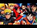 Gambar cover Goku, Gohan e Bardock VS. Naruto, Boruto e Minato | Duelo de Titãs