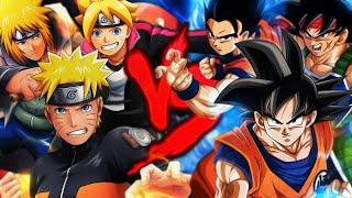 Goku, Gohan e Bardock VS. Naruto, Boruto e Minato | Duelo de Titãs