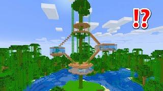 巨大ジャングルツリーハウスの作り方【まいくら・マインクラフト】