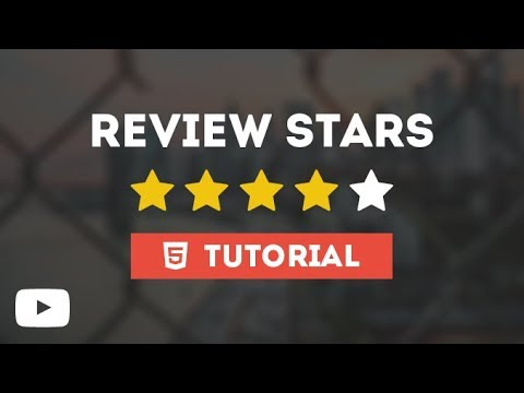 Cool Review Stars With Amazing Hover - Tutorial Using Only HTML & CSS