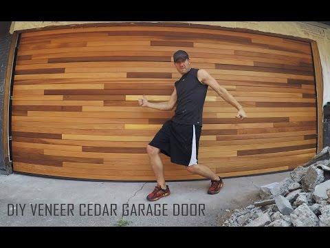 Cedar Tongue Groove Veneer Garage Door Diy Installation