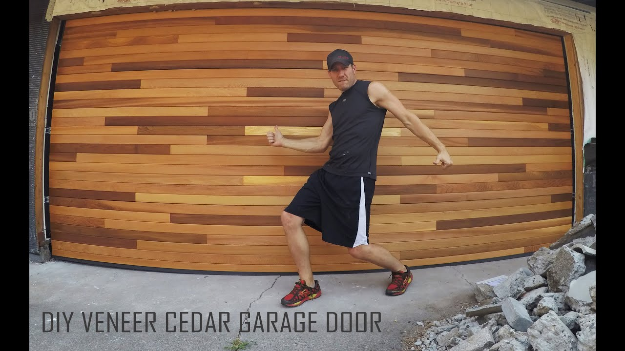 Cedar Tongue Amp Groove Veneer Garage Door Diy Installation